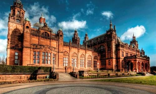 Kelvingrove Art Gallery and Museum from Argyle Street.