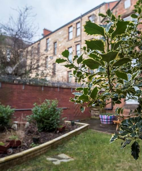 Govanhill Neighbourhood Centre view of community garden